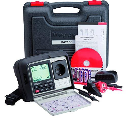 Megger 1003-430 PAT150R-DE Gerätetester, Schutzleiterwiderstand mit 200 mA, Isolationsprüfung mit 250V und 500V, Ersatz-Ableitstrom, Schutzleiterstrom
