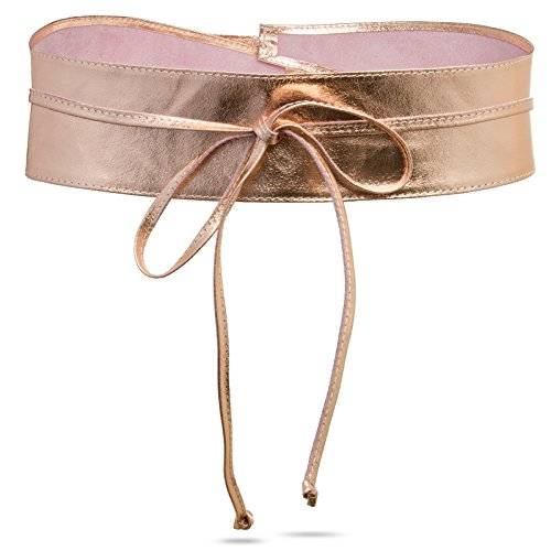 CASPAR GU285 Damen Leder Wickelgürtel, Größe:One Size, Farbe:roségold