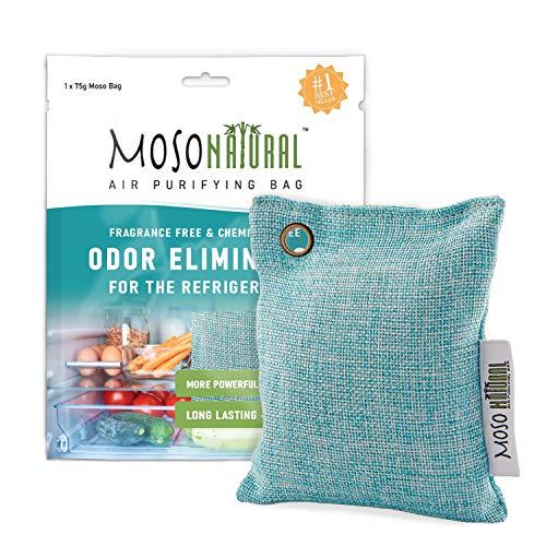 Moso Natural Luftreinigungstasche, Hält Ihren Kühlschrank, Gefrierschrank Und Kühler;Frisch, Trocken Und Geruch75G 1-Pack