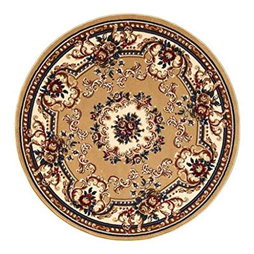 Best Review Of Round Rugs Floor mat Easy to Clean Rug Two Sizes (Color : Camel, Size : 100100cm)