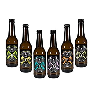 La Runa Hidromiel. Bebida Artesana. Surtido de Sabores: Vainilla, Semiseco, Dulce, Naranja, Frutos del Bosque y Manzana. (12 botellas 0,33cl)