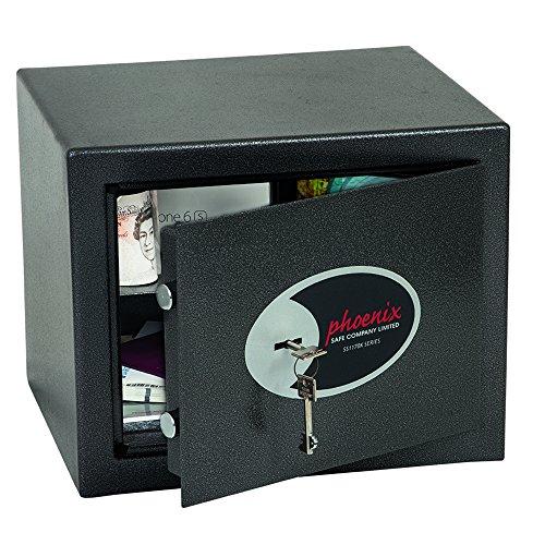 Phoenix Safe SS1171K Möbeltresor Schlüsselschloss VDMA24492 Stufe B VDs Klasse1, klein