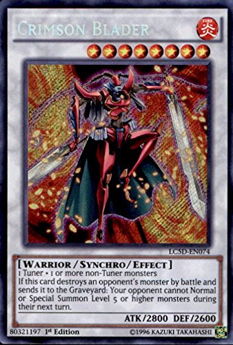 YU-GI-OH! - Crimson Blader (LC5D-EN074) - Legendary Collection 5D's Mega Pack - 1st Edition - Secret Rare