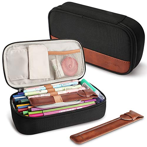 DTH-PANDA Pencil Case - Large Pen Makeup Pouch Bag Box Holder W Zipper - Big Capacity Cool Marker Stationery Organizer for Kids Girls Boys Men Women Adults for School & Office