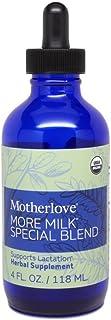 Motherlove More Milk Special Blend Tincture (4oz) Herbal Lactation Supplement w/ Goat's Rue—Build Mammary Tissue, Enhance ...