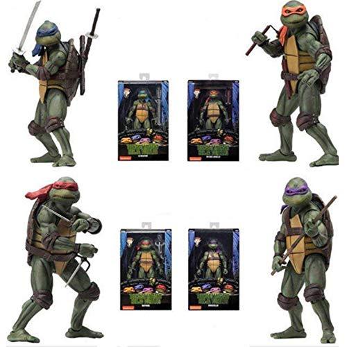 ZHANGH Adolescente Mutante Ninja Tortugas Figura De Acción (1990) -18cm
