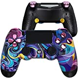 HexGaming Customizable Spike Controller 2 Paddles & Interchangeable Thumbsticks & Triggers Stop for PS4 pro Custom Controller PC Wireless Esports FPS Game Controller - Bizarre Dream