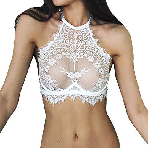 Bfmyxgs Mode Frauen Sexy Dessous Spitze Blumen Push-Up Top BH Charming Unterwäsche Nachtwäsche Höschen Stilvolle Unterwäsche...