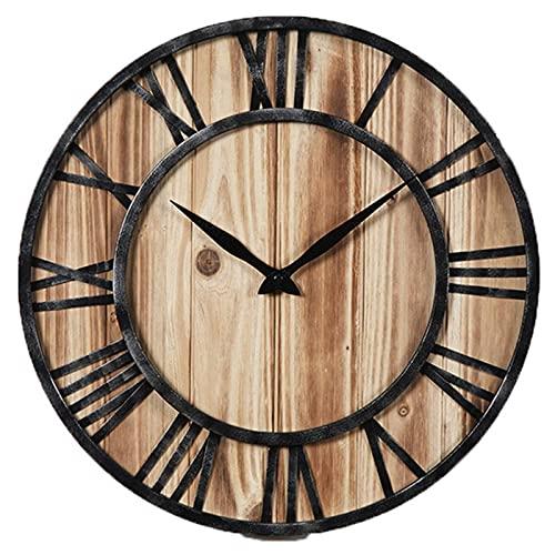 AIOJY Reloj De Pared Silencioso, Clásico Redondo Antiguo Numero Romano Casa Eacute;Reloj De Pared De Metal Analógico
