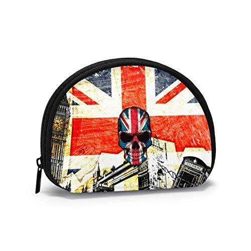 Oxford Cloth London Bilding - Monedero de tela de Londres, diseño de bandera del Reino Unido, bolsa de cambio, bolsa de maquillaje, bolsa multiusos