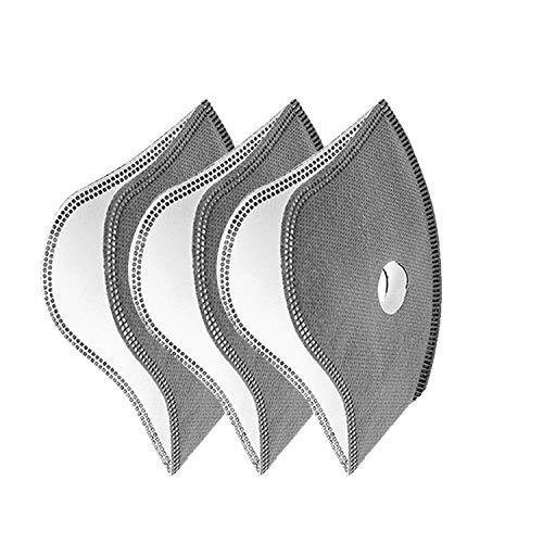X-Labor Aktivkohle 3pcs Filter für Atemschutzmaske Staubmaske Gesichtsmaske Mundschutzmaske Feinstaubmaske Staubschutz PM2.5 Damen Herren für Outdoor Radsport Training (3pcs Filter)