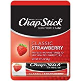 ChapStick Classic Strawberry Flavor 0.15 Ounce, Skin Protectant, Lip Care, 1 count -0.15 oz each