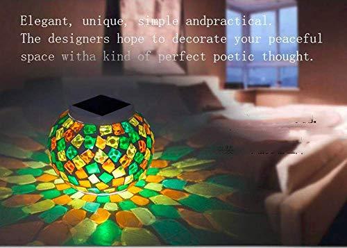 Zonne-outdoor tafellamp, zonne-mozaïek outdoor lichten mozaïek kleur veranderen mozaïek waterdichte zonne-energie mozaïek glas tafellampen partij tuin