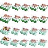 Cajas Para Tartas, 20 Piezas Cajas De Galletas, Cajas De Cupcakes, Recipientes...