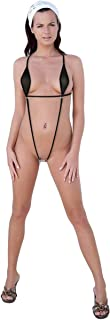Afom Women Sexy See Through Slingshot Teeny Weeny Sheer Mini Bikini G String Bottom One Piece Beachwear