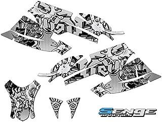 Compatible with Arctic Cat 2003-2004 Firecat/Sabercat Zany Grey Graphics kit