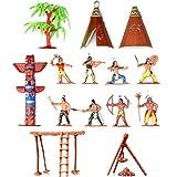 Musykrafties Indianer-Figuren aus Kunststoff, Spielzeug-Figuren für Sandkasten, Miniatur-Aquarium,...