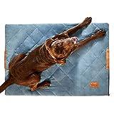 PiuPet® Hundedecke gepolstert 70 x 100cm - Hundematte grau -