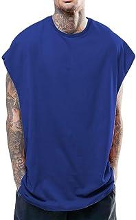 メンズ無地ベスト タンクトップ メンズ tシャツ夏 トップス カットソー ノースリーブ ゆったり ビッグシルエット 吸汗速乾 無地 お出かけ 男性 背心 簡単 ジム 運動 (S-XXL)