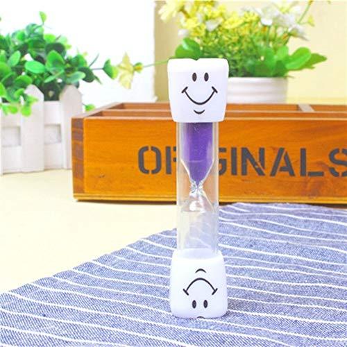 Ancient vine green Dauerhaft Hot 3 Minuten Clocks Hourglasses Zahnbürste Timer for Bürsten Kinder Zähne Smiley Sand Timer Home Decor Einfach und praktisch (Color : Purple, Size : 3min)