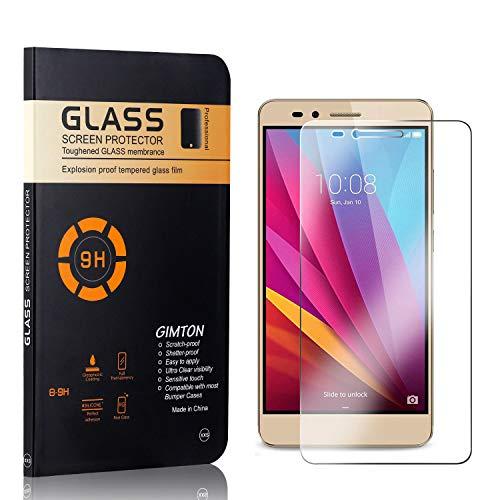 GIMTON Displayschutzfolie für Huawei Honor 5X, 9H Härte, Blasenfrei, Anti Öl, Ultra Dünn Kratzfest Schutzfolie aus Gehärtetem Glas für Huawei Honor 5X, 4 Stück