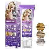 Purple Shampoo, Shampooing Blonde, No Yellow Shampoo, Élimine les Reflets Jaunes - Renforce les Cheveux Blonds/Décolorés/Méchés/Gris