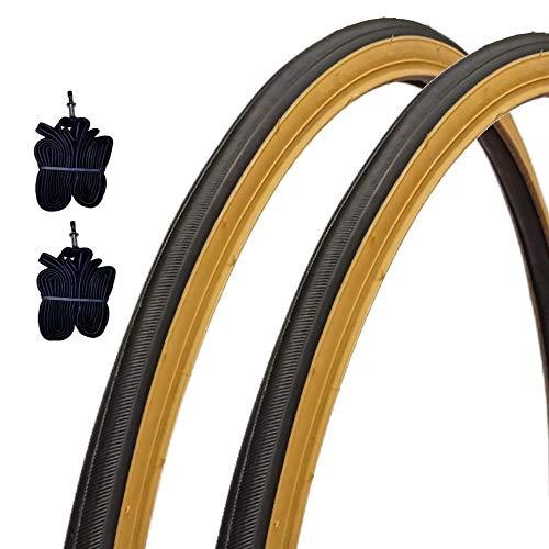 2 COPERTONI Kenda 700 X 28 C + CAMERE Pneumatici Nero para Bici City Bike Trekking 28 X 1 5/8 X 1 1/8