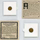 ROME - WORLD'S GREATEST EMPIRE Authentic Ancient Roman Coin from 240-410 AD Comes in mini folder with Certificate of Authenticity Great gift & educational item! Affordable introduction to ancient coins.