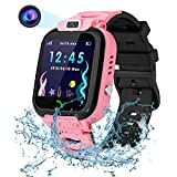 Kids Smart Watch for Boys Girls, Waterproof LBS Tracker HD Touch Screen Smartwatch Phone with Call SOS Camera Games Recorder Alarm for Children Boys Girls School
