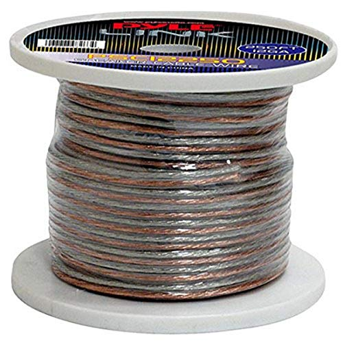 250ft 12 Gauge Speaker Wire - 1 Piece Copper Cable in Spool for Connecting Audio Stereo to Amplifier, Surround Sound System, TV Home Theater and Car Stereo - Pyle PSC12250