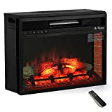 TURBRO in-Flames 23 Inch in-Wall Recessed Electric Fireplace - 7 Flame Effects, Infrared Quartz, Adjustable Thermostat and Timer - INF23
