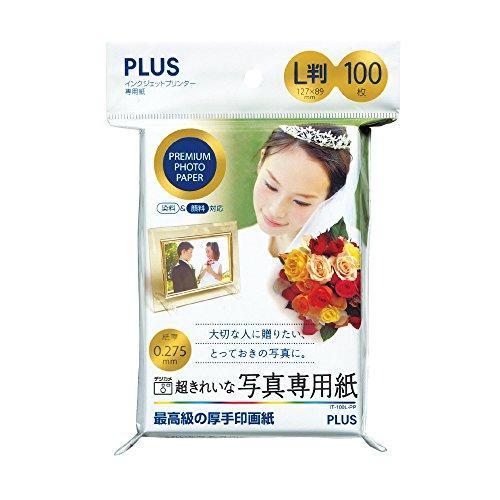 プラス 写真用紙 超きれいな写真専用紙 L判 100枚入 IT-100L-PP 46091
