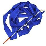 4m de la mancha de giro de la danza gimnasia rítmica Arte Serpentina de la cinta de la gimnasia con la varita del palillo azul