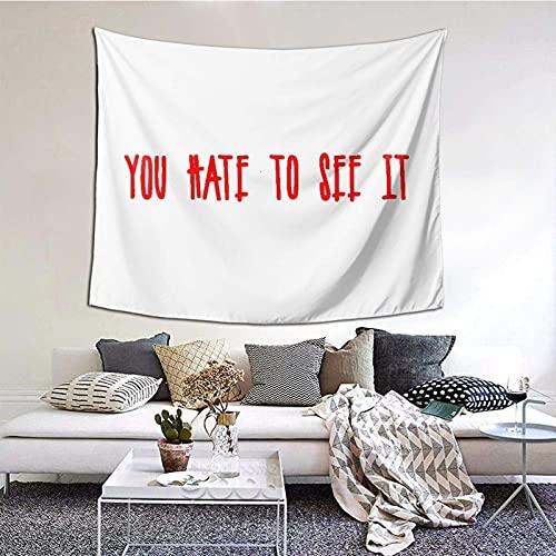 U Hate to See it - Manta decorativa de pared para dormitorio, sala de estar, decoración de dormitorio, 60 x 151 cm, versión vertical