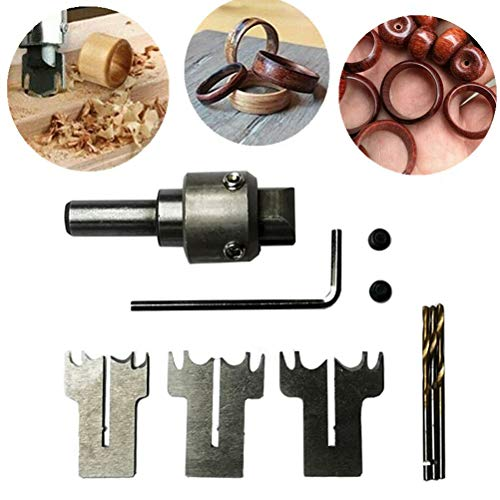 Tianbi Holz Dicker Ring Maker Multifunktions-Ringbohrer Schnallenschneider Bohrer Speed ??Stahl Bohrring Bohrer Holz DIY Werkzeuge für Die Herstellung von Personalisierten Holzringen Und