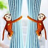hjxvcsdh Vorhang Fenster EIN Paar Cartoon Riemen Magnet Stanzen Kostenlos Braun Schnalle Overall Vorhang Krawatte Küche