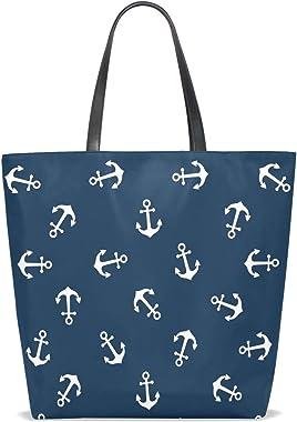 Bolsos Bolso de mano para mujeres Niñas Damas Montaje para estudiantes Ancla náutica Monedero vintage Compras Bolsos de hombr