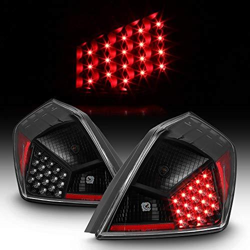 ACANII - For 2007-2012 Nissan Altima 4-Door Sedan Black LED Tail Lights Brake Lamps Left+Right
