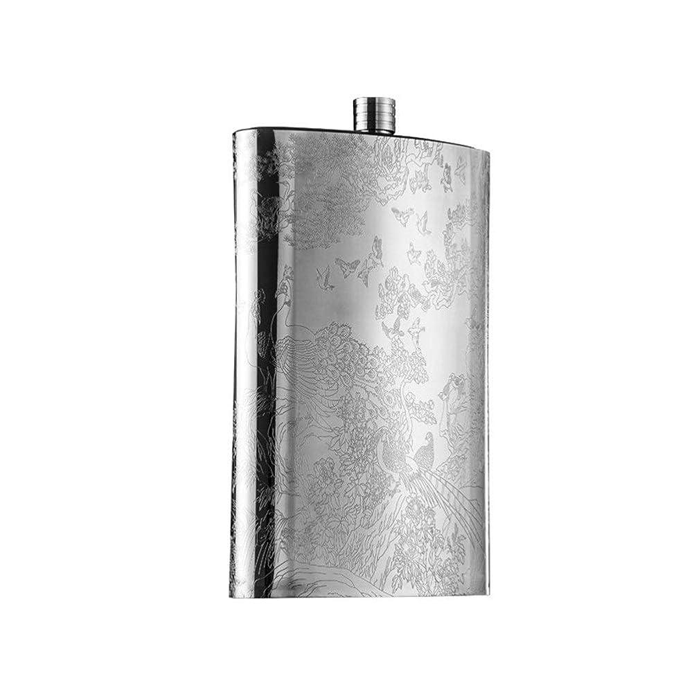 アーサー遠近法れるフラスコ スキットル 3500ミリリットル大容量ステンレス鋼のヒップフラスコ屋外ポータブルワインボトルポータブルフラットケトルワインセット 携帯用 超軽便利 アウトドア 家庭 プレゼント用 (Color : Silver, Size : 3500ml)