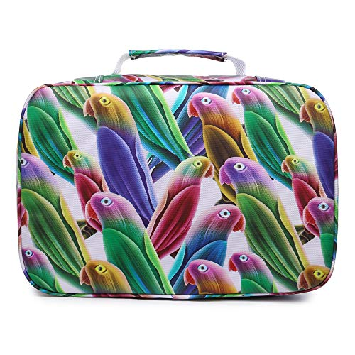 YOUNGCOL 300 Slots Pencil Case 200 Gel Pen Case High Capacity Pens Holder Colored Pencils Organizer Storage for Watercolor Pens Markers (Parrot)