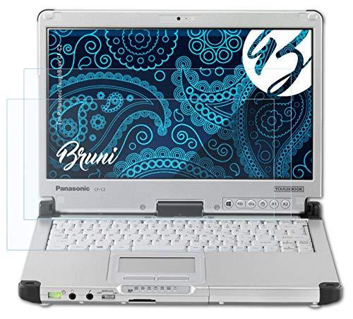 Bruni Schutzfolie kompatibel mit Panasonic ToughBook CF-C2 Folie, glasklare Bildschirmschutzfolie (2X)