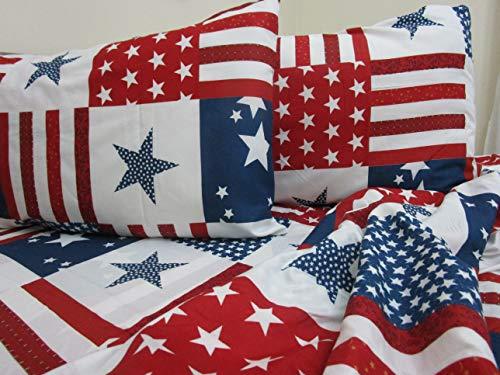 PAGO POCO Bettwäsche aus superweicher Mikrofaser, Design Amerika, für Einzelbett, Doppelbett, Neues Bett 2020! 160 x 190 cm Singolo