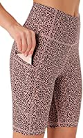 Persit Damen Kurze Leggings, Blickdicht Radlerhose mit Taschen