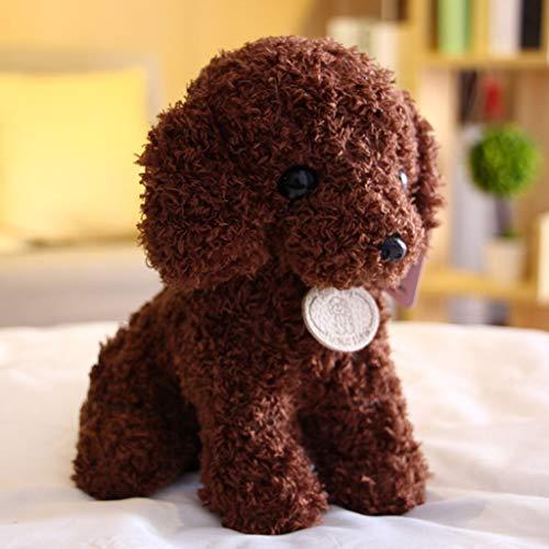 HitHopKing Plush Figure Toys — Cute Plush Doll Stuffed Animal Plushies Toys, Plush Dog Toy , Pillow Plush Toy , Plush Realistic Corgi Stuffed Animal for Boys and Girls (Deep Zong Color, 25cm/10 inch)