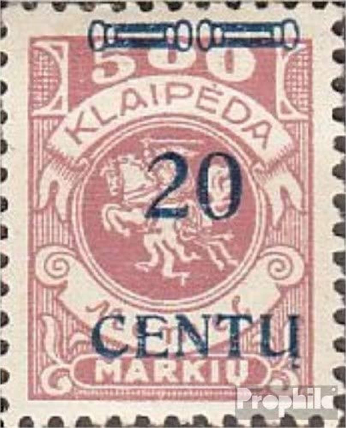 Memelgebiet 171 type B I tested 1923 Supplementary Issue (Stamps for collectors)