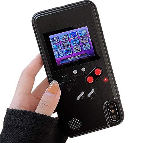 Fundas Gameboy Huawei Mate 20 Pro Carcasa con Delgada TPU Caso de Silicona Bordes Protectora de Case Cover para Choques Retro 3D Tetris para Huawei Mate 20 Pro, Negro, Pantalla a Color