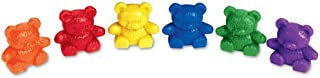Learning Resources Baby Bear Counters, Color Recognition, Math Skills, 102 Pieces, Assorted Colors, Ages 3+ (LER0729), Mul...