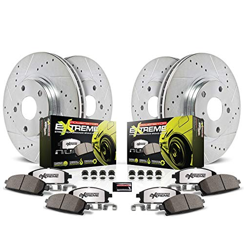 Power Stop K4023-26 Front & Rear Z26 Street Warrior Brake Kit Chrysler Dodge