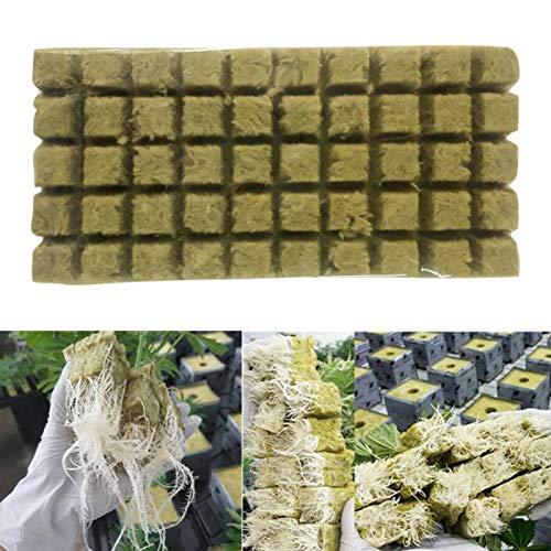 MOVKZACV Rockwool Würfel-Kompresse-Basis, Steinwoll-Starterstopfen für Hydrokultur, Steinwolle, Wachstumswürfel für den Garten, Hydrokultur, bodenlose Anzucht