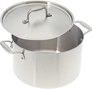 American Kitchen 8-quart Tri-Ply Stainless Steel Stock Pot with Cover